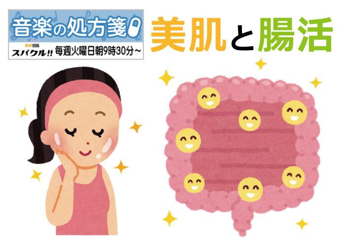 【音楽の処方箋】8/24の放送は・・・美肌と腸活